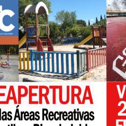 Reapertura de áreas infantiles, biosaludables y pistas deportivas